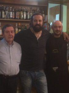 Omar con Ennio e Paolo