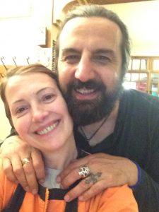 selfie con Omar Pedrini e Franca